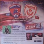 Programme saison 2013 2014 J 29 Clermont Nancy