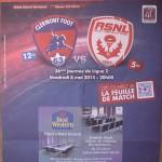 Programme saison 2014 2015 J 36 Clermont Nancy