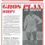 Programme saison 73-74 Nancy Angers 16-03-74