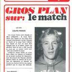 Programme saison 73-74 Nancy Lyon 25-05-74