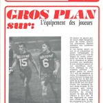 Programme saison 73-74 Nancy Monaco 10-02-74