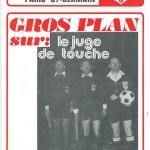 Programme saison 73-74 Nancy PSG 03-03-74