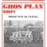 Programme saison 74-75 Nancy-Valenciennes 05-06-75