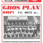 Programme saison 75-76 Metz-Strasbourg 31-01-76 Coupe de France