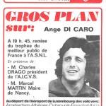 Programme saison 75-76 Nancy-Bastia 12-03-76