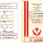 Programme saison 76-77 Nancy Angers 08-06-77