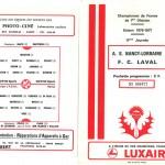 Programme saison 76-77 Nancy Laval 23-10-76