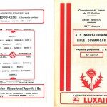 Programme saison 76-77 Nancy Lille 01-06-77