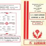 Programme saison 76-77 Nancy Lyon 13-08-76