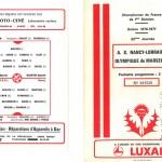 Programme saison 76-77 Nancy Marseille 03-05-77
