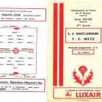 Programme saison 76-77 Nancy Metz 02-10-76