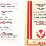Programme saison 76-77 Nancy Nîmes 22-01-77