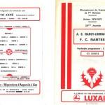 Programme saison 76-77 Nancy Nantes 26-02-77