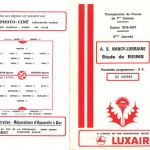 Programme saison 76-77 Nancy Reims 07-09-76