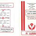 Programme saison 76-77 Nancy Rennes 21-05-77