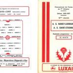 Programme saison 76-77 Nancy Saint Etienne 18-12-76