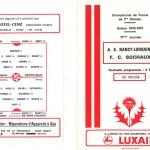 Programme saison 76-77 Nancy Sochaux 04-12-76
