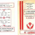 Programme saison 76-77 Nancy Valenciennes 16-04-77