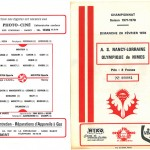 Programme saison 77-78 Nancy Nîmes 26-02-78