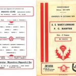 Programme saison 77-78 Nancy Nantes 14-10-77