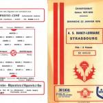 Programme saison 77-78 Nancy Strasbourg 22-01-78