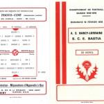 Programme saison 78-79 Nancy Bastia 18-02-79