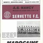 Saison 1978 1979 programme match UEFA Servette de Geneve ASNL 21 10 1978
