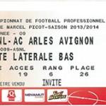 Saison 2013 2014 billet Nancy Arles Avignon j 09