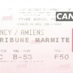 Billet Nancy-Amiens - Saison 1997-1998 - D2 (39e j., 24 04 1998)