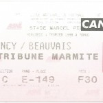 Billet Nancy-Beauvais - Saison 1997-1998 - D2 (29e j., 04 02 1998)