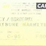 Billet Nancy-Bordeaux - Saison 1999-2000 - D1 (13e j, 30 10 1999)
