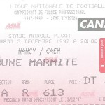 Billet Nancy-Caen - Saison 1997-1998 - D2 (23e j., 03 12 1997)