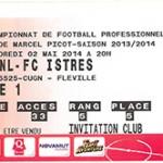 Billet Nancy-FC Istres - Saison 2013-2014 - L2 (35e j  02 05 2014)