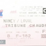 Billet Nancy-Laval - Saison 1997-1998 - D2 (04e j., 20 08 1997)