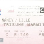 Billet Nancy-Lille - Saison 1997-1998 - D2 (31e j., 14 02 1998)