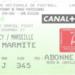 Billet Nancy-Marseille - Saison 1999-2000 - D1 (17e j, 27 11 1999)