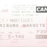 Billet Nancy-Martigues - Saison 1997-1998 - D2 (12 e j., 28 09 1997)
