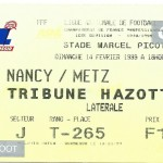 Billet Nancy-Metz - Saison 1998-1999 - D1 (24e j., 09 04 1999)