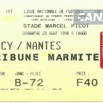 Billet Nancy-Nantes - Saison 1998-1999 - D1 (03e j., 23 08 1998)