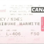 Billet Nancy-Nimes - Saison 1997-1998 - D2 (33e j., 07 03 1998)