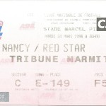 Billet Nancy-Red Star - Saison 1997-1998 - D2 (35e j., 24 03 1998)