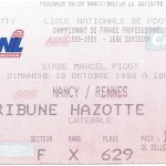 Billet Nancy-Rennes - Saison 1998-1999 - D1 (09e j., 17 10 1998)