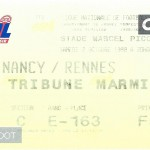 Billet Nancy-Rennes - Saison 1999-2000 - D1 (09e j, 02 10 1999)