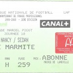 Billet Nancy-Sedan - Saison 1999-2000 - D1 (18e j, 03 12 1999)