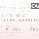 Billet Nancy-Sochaux - Saison 1997-1998 - D2 (14 e j., 09 10 1997)