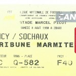Billet Nancy-Sochaux - Saison 1998-1999 - D1 (01e j., 08 08 1998)