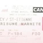 Billet Nancy-St Etienne - Saison 1997-1998 - D2 (10e j., 20 09 1997)