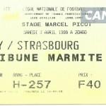 Billet Nancy-Strasbourg - Saison 1998-1999 - D1 (28e j., 03 04 1999)