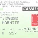 Billet Nancy-Strasbourg - Saison 1999-2000 - D1 (30e j, 08 04 2000)