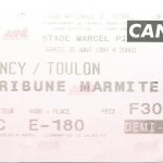Billet Nancy-Toulon - Saison 1997-1998 - D2 (06e j., 30 08 1997)